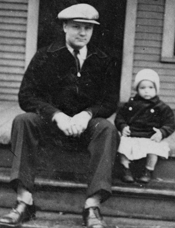 Dad and Dorothy, age 2.5
